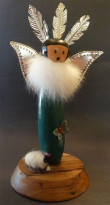 Gourd Angel with Sheep, by Donna Whitson
