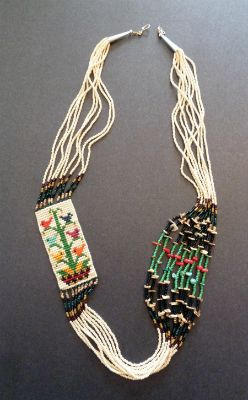 Tree of Life Necklace by Navajo Bead Weaver, Barbara Phillips