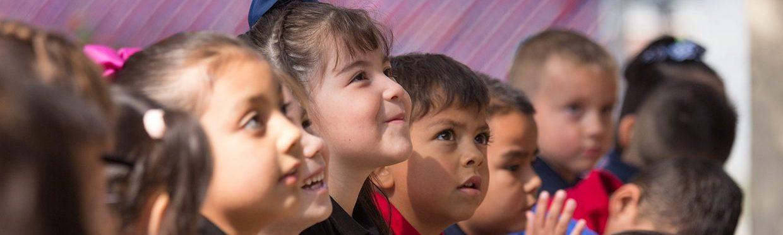 Preschoolers listening, Rich Saxon photo